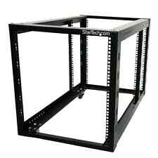 StarTech 4POSTRACK12A 12U 4 Post Server Equipment Open Frame Rack Cabinet w/