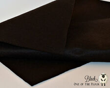 Black Merino Wool Felt Fabric Yardage, Penny Rug, Candle Mat, Craft Felt