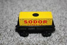 Thomas the Train Wooden Railway Cargo Car w/Load Black Yellow Toys Set RARE VHTF
