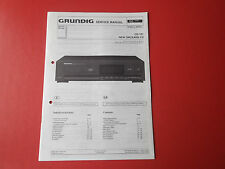 Grundig CD 101 New Orleans CD org. Service Anleitung Manual