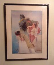 "PAIR OF FRAMED Z GALLERIE PRINTS BY SIR LAWRENCE ALMA-TADEMA (24.5 ""X 31.5"")"