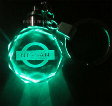 1x Car Logo LED night Light color changing crystal Key Chain Keychain for Nissan