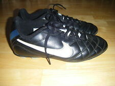 Boys NIKE Hard Ground Soccer Baseball Football Leather Lace Cleats Shoes Sz