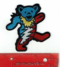 "3"" Grateful Dead Dancing bolt bear patch Iron on patches shakedown USA"