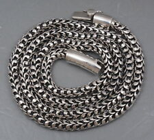 """92g 28"""" ARTISAN DRAGON SNAKE SCALE MENS NECKLACE CHAIN 925 STERLING SILVER"""