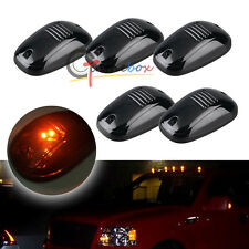 5pcs LED Bulb-in Cab Roof Marker Lights For Car Truck SUV 4x4, Black Smoked Lens