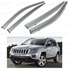 Car Front & Rear Window Visor Deflectors Vent Shade for Jeep Compass 2011-2015