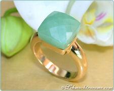 Edel & perfekt zu kombinieren: Grüne Jade Ring, massiv Gelbgold 750/000 2.000€