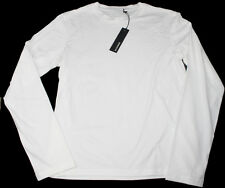NEW$BEAUT JIL SANDER BEAUTIFUL LONG SLEEVES WHITE CREW NECK 100% AUTH T SHIRT XL