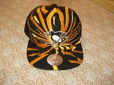 PITTSBURGH PENGUINS hat cap SNAPBACK Earthquake style Mitchell & Ness nwt