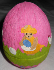 """5"""" Spring Chickens Old-Fashioned Tissue Paper Egg Flowers Bears Easter Fillable"""