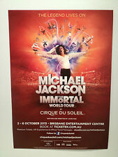 MICHAEL JACKSON The Immortal World Tour Poster 2013 A2 **BRISBANE BEC ONLY***NEW