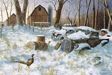 Jim Hansel Winter Haven Pheasant Old Truck print Winter Haven 18 x 10.5