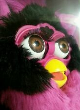 1999 Original Furby, Black and Pink/Purple, Brown Eyes, MIB, FACTORY SEALED.