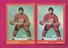 2 X 1973-74 OPC # 61 FLAMES PAT QUINN  CARD (INV#5404)
