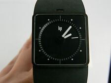 NEW LIP French design Big TV black dial automatic PVD dressing watch