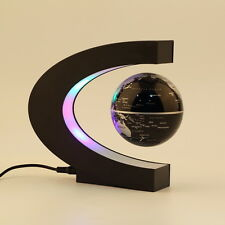 C shape LED World Map Deco Magnetic Levitation Floating Globe Light US Plug FT