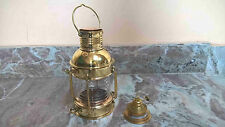 Antique Brass Ship Oil Lantern Lamp For Home Collectible Decorative