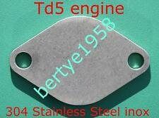 EGR Blanking plate Landrover Discovery 2 & defender Td5 Stainless Steel