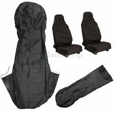 Universal Car Seat Cover Front Waterproof Nylon Van Auto Vehicle Protector Black