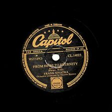 FRANK SINATRA 78  FROM HERE TO ETERNITY / MY ONE & ONLY LOVE  CAPITOL CL14023 EX