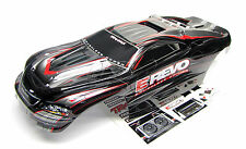 Brushless E-REVO BODY shell (BLACK & GREY & Decals stickers 1/10 Traxxas 5608