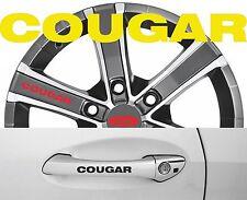 4 x Türgriff- Felgen Aufkleber Ford Cougar 001 #1420