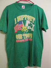 VINTAGE OPERATION DESERT STORM T-SHIRT SIZE L LARGE GULF WAR Dual Sided 50/50