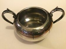 WHM&S EPBM Electroplated Silver Pewter Sugar Bowl / Two Handled Bowl