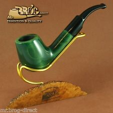 "OUTSTANDING Mr.Brog original smoking pipe nr.27 green "" BIG HORN "" GREAT GIFT"