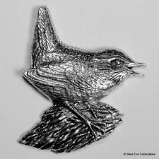 Wren Pewter Pin Brooch - British Hand Crafted - Song Garden Bird WRNS