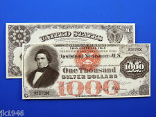 Replica $1,000 1878 Silver Certificate Note US Paper Money Currency Copy