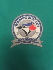 "(2)Toronto Blue Jays 40th Season Jersey Patches 3"" Maple Leaf Silver Iron On Sew"