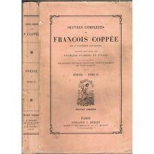 ŒŒUVRES COMPLÈTES de François COPPÉE Illustré Burin par FLAMENG et TOFANI 1892