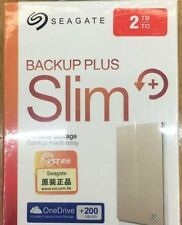 2TB Seagate Slim Backup Plus External Portable HDD  Disk USB 3.0  2.5""