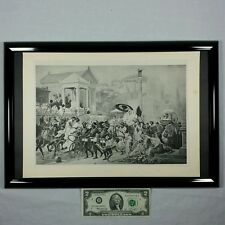1887 Caesar on the Appian Way by Boulanger (Antique Photogravure) History Framed