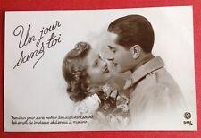 CPSM. Soldat. Amour. Guerre. Jeune Femme. Un Jour sans toi. 1939.