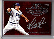 2013 Topps Five Star MATT MOORE SILVER SIGNATURES ON CARD AUTO SP #7/20 RAYS!!