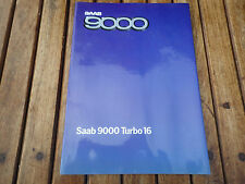 CATALOGUE PUBLICITAIRE ET TECHNIQUE SAAB 9000 TURBO 16  (C2)