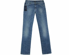 BRAND NEW GENUINE ARMANI BLUE DENIM STRAIGHT LEG REGULAR WAIST JEANS SIZE 25