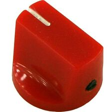 """NEW - Mini Bar knob for guitar pedals amplifiers projects 1/4"""" set screw- Red"""