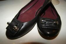 BOTKIER VIOLA BLACK LEATHER SHOE FLAT SIZE 37 US 7 (TACO900)