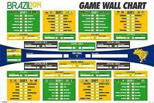 Brazil 2014 World Cup Wall Chart - Maxi Poster 91.5cm x 61cm (new & sealed)