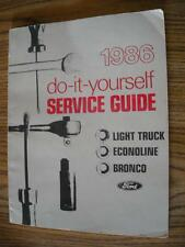 1986 Ford Do-It-Yourself Light Truck Bronco Econoline Book