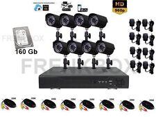 Kit sorveglianza DVR 8 canali HDD 160Gb Cloud Hdmi Telecamere Sony 800TVL 24Led