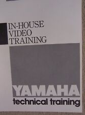 1989 Yamaha Motorcycle ATV In House Video Training Technical Manual Dealer  L
