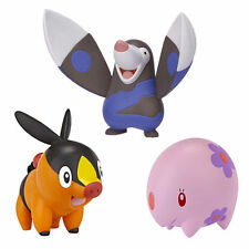 Pokemon Black White 3 Pack Action Figure Tepig Drilbur Munna Collectable