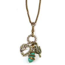 SWEET ROMANCE SOUTHWEST TURQUOISE CHARM NECKLACE  HEART, SNAKE & MORE