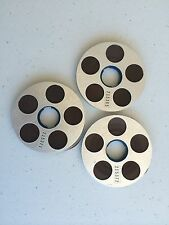 NAGRA SN / SNS PORTABLE REEL TO REEL ORIGINAL ALUMINUM VINTAGE REELS LOT OF 3