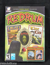 Redrum Dead Diary +Time Lies and 2 Extra Bonus PC Hidden Object Games New in Box